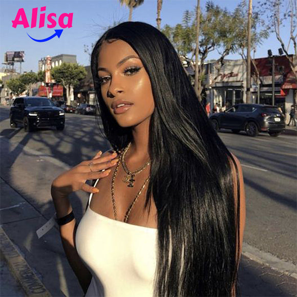 360 Lace Frontal Wigs Straight Hair With Baby Hair