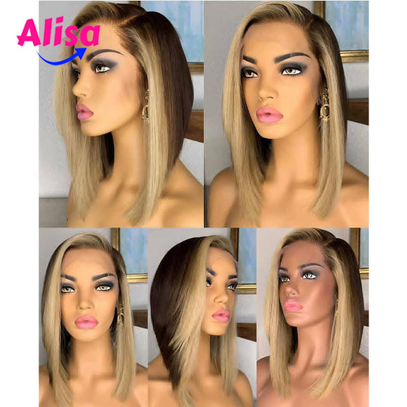 Ombre 1b/27 Color  Straight hair Full Lace Wigs