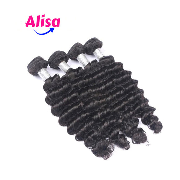 4 Bundles Brazilian Deep Wave Human Hair