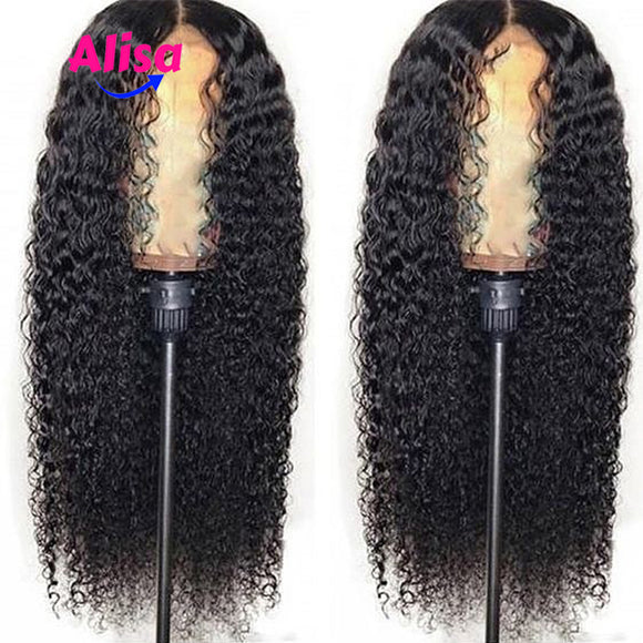 Wet And Curly Human Hair Wigs 13x6 Deep Part Water Wave Lace Front Wigs