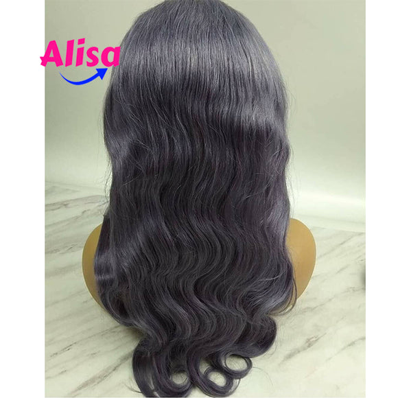 13*6 Lace Frontal Wigs Body Wave Wigs Purple Color