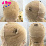 613 Blonde Straight Hair  Full Lace Human Hair Wig