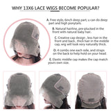Lace Front Wigs With Baby Hair  Spring Short Bob Wig