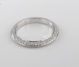 Pave Full Eternity Melee Wedding Band Moissanite - Vintagetears Jewellery Design