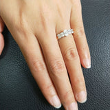 5 Stone Oval Cut Engagement Ring Moissanite - Vintagetears Jewellery Design