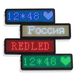12*48 Pixels LED Name Badge with Magnet and Pin Scrolling display Message Sign 48x12 Dots Rechargeable Led Name Tag For Event