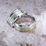 Gold Silver Color Stainless Steel Music Stave Luminous Ring for Women Men Glow in Dark Wedding Engagement Rings anel Jewelry Z05