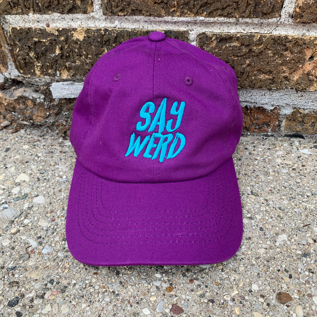 SayWerd Hat ( Purple & Seafoam )