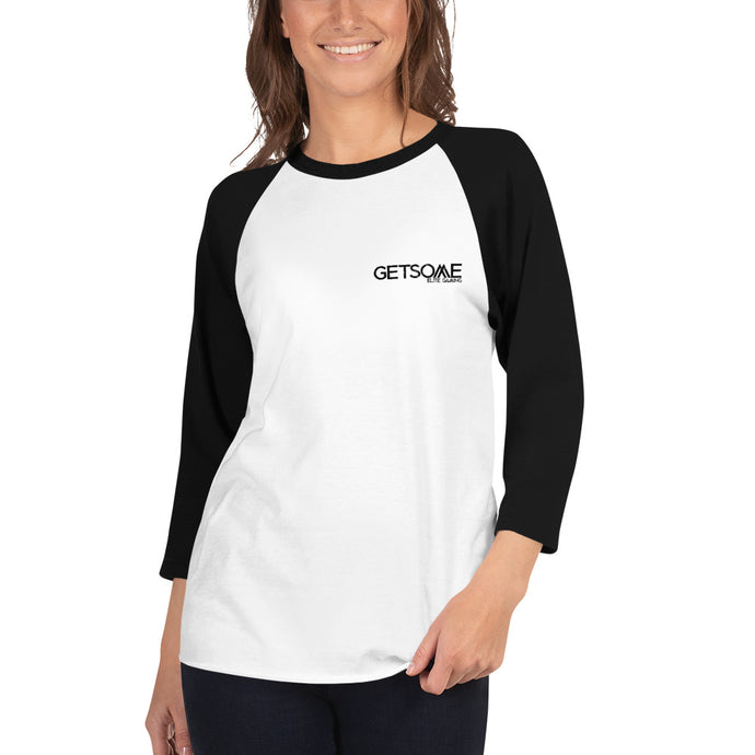 GetSome Women's 3/4 sleeve raglan shirt