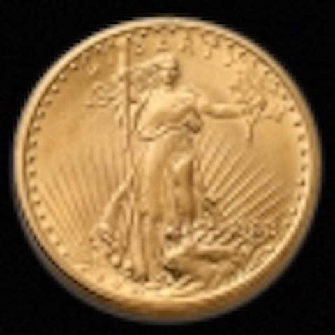 1908-p $20 Saint-Gaudens NM Uncirculated