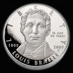 2009 Braille Silver Dollar NGC PF69