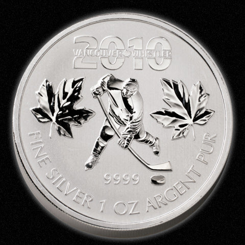 2010 Vancouver Olympics 1oz Silver Coin