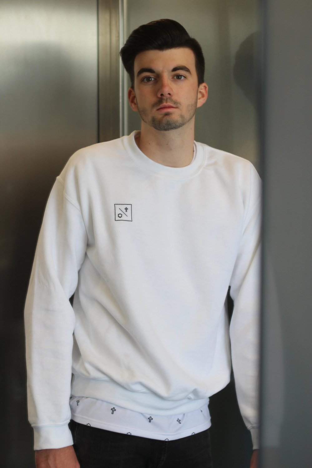 Sweatshirt mit Logo-Stick by MJUC