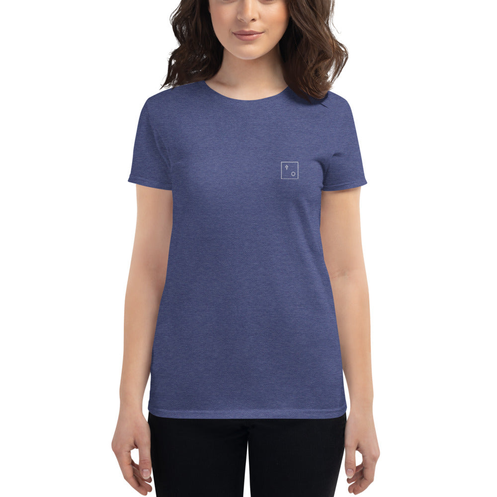 Damen T-Shirt mit Logo-Stick by MJUC