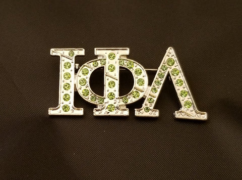 Iota Greek Letter Bling pin