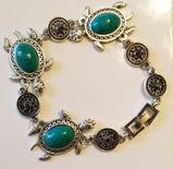 Turtle bracelet and earring set