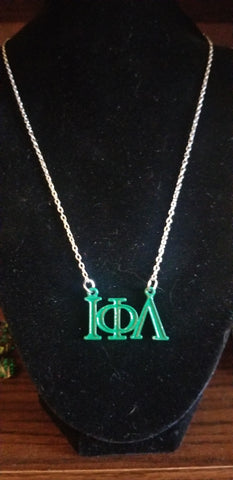 Iota Greek Letter necklace