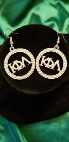 Iota Pearl circle earrings
