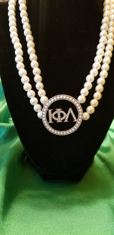 Iota pearl circle necklace