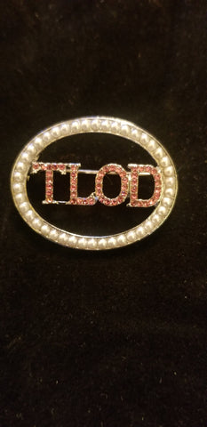 Oval TLOD pearl pin