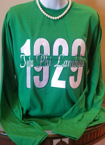 1929 Iota Phi Lambda embroidered tee