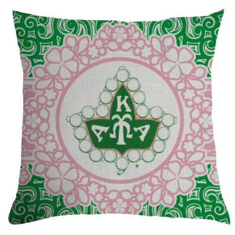 AKA Ivy Crest pillow cover