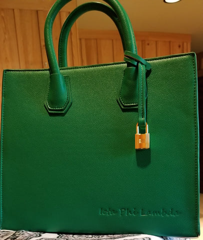 ***NEW*** Iota Phi Lambda debossed handbag ***IN STOCK***
