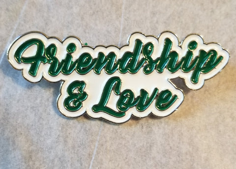 Friendship & Love lapel pin