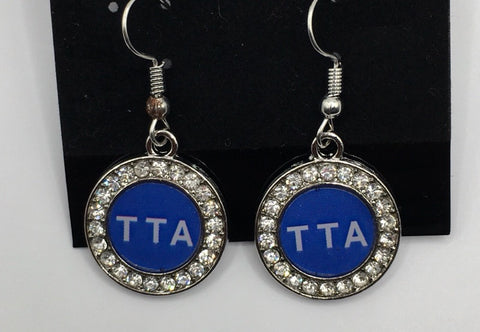 TTA round bling earrings
