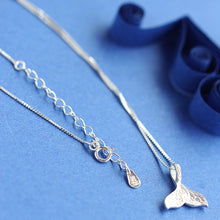 Load image into Gallery viewer, Lovely Little '100% 925 Sterling Silver' Classic Whale Tail Choker Necklace!