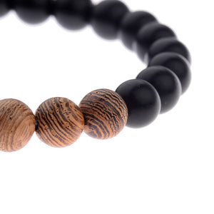 Great Natural Wood Beads Bracelets For Men