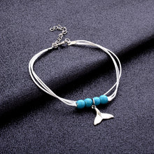 Load image into Gallery viewer, Cute 'Whale Tail' Multi-Layer Rope Anklet For Bare Foot Days At The Beach!
