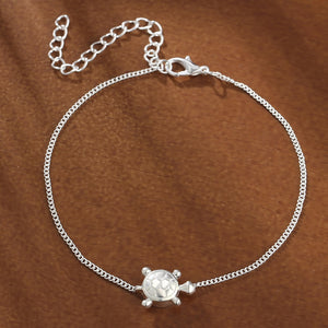 Very Sweet And Simple Single Layer Vintage Sea Turtle Anklet!