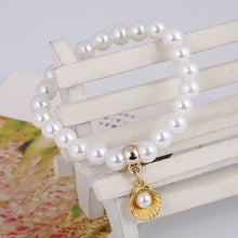 Load image into Gallery viewer, 'Fabulous! Simulated Pearl & Sea Shell Bracelet!