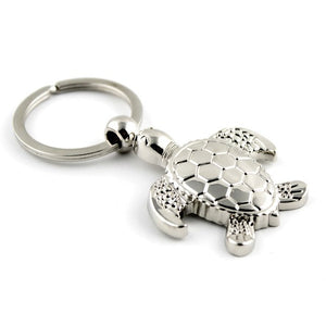 HOT SELLER! Really Nice Sea Turtle Key Ring In 'Bright' Sterling Silver Plate