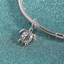 Load image into Gallery viewer, The 'Perfect' Sea Turtle Bead Charm In 925 Sterling Silver' For DIY Bracelets!