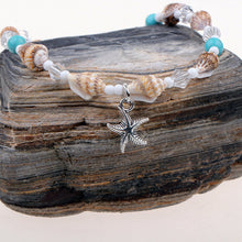 Load image into Gallery viewer, Delightfully Cute Adjustable 'Boho' Beads & Starfish Anklet
