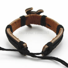 Load image into Gallery viewer, Imitation Carved Yak Bone Hawaiian Sea Turtle Surfer's Leather Bracelet