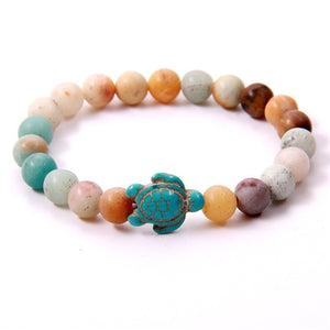 This Is Simply A Really Fun And Uplifting Little Sea Turtle Bracelet In Natural Stone!!