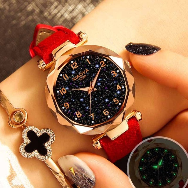 Rose Gold Starry Sky Ladies Quartz Watches - SunnyLandWatches