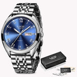 LIGE Stainless Steel Waterproof Business Watches - SunnyLandWatches