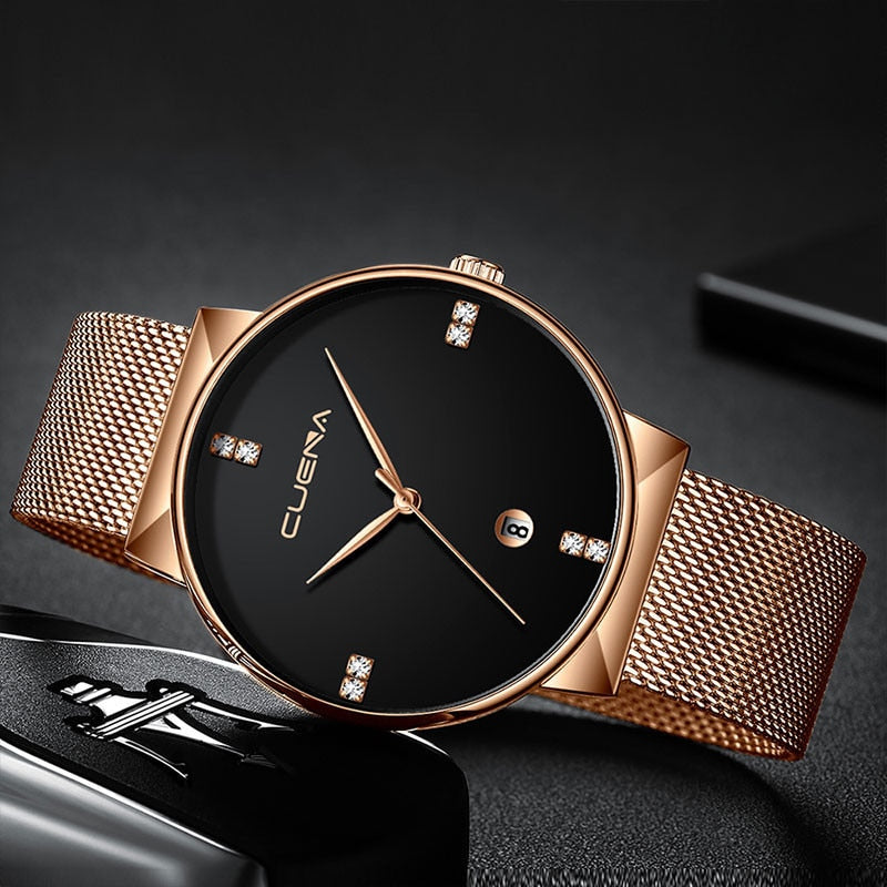 Luxury Ultra-Thin Steel Strap Watch for Men - FREE just pay small shipping fee - SunnyLandWatches