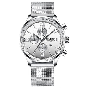Stainless Steel Casual Quartz Analog Date Watch NOW FREE for a LIMITED TIME! - SunnyLandWatches