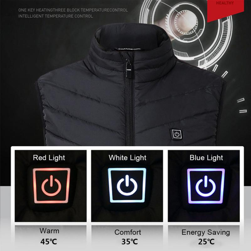 Men USB Infrared Heating Vest Jacket