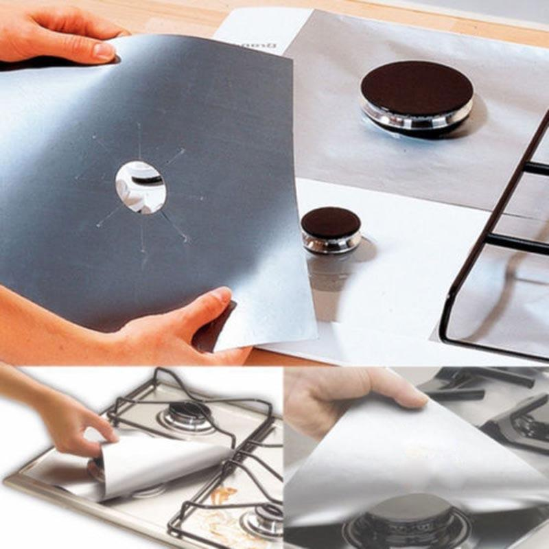 Reusable Gas Stove Protectors Mats (4 PCS )