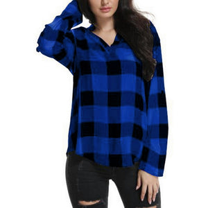 2019 Spring Long Sleeve Blouses Shirt Women Plaid Shirts Office Lady Cotton Lace up Blusas Tunic Casual Tops Plus Size