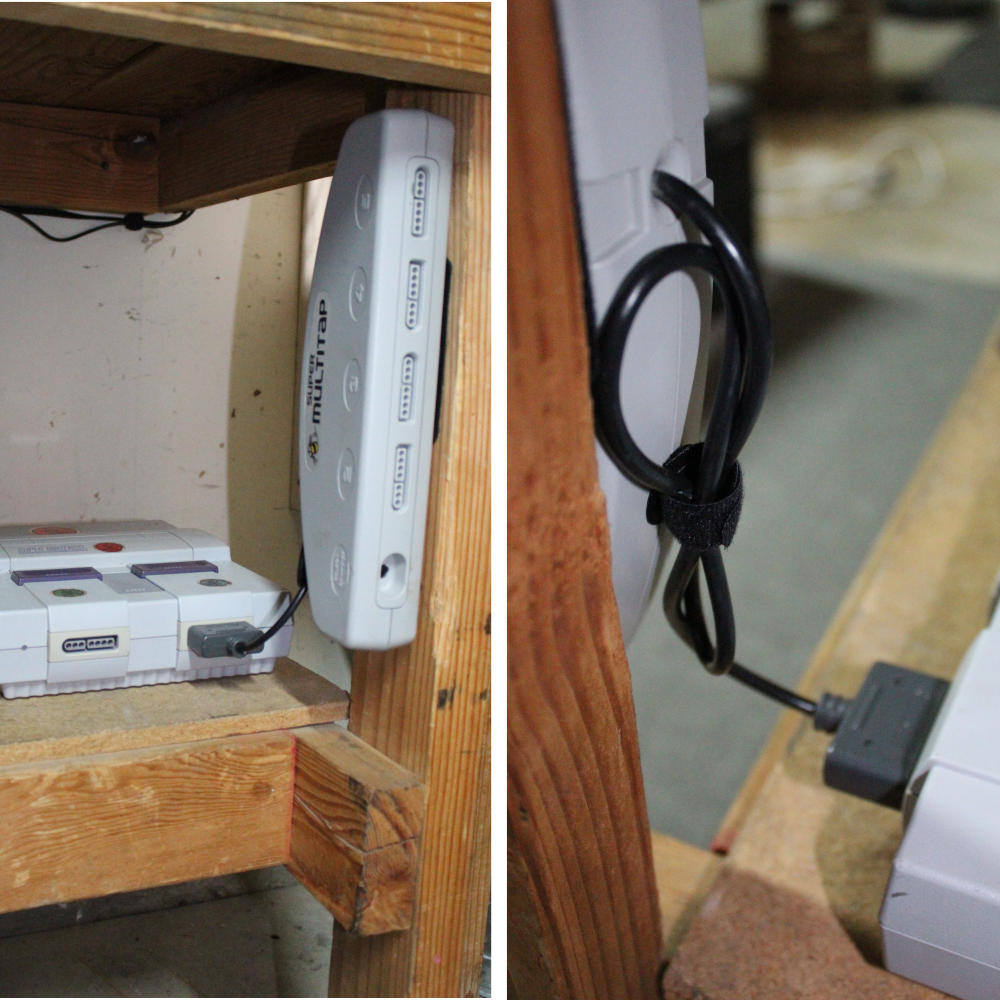 ng-sensible-solutions-cable-management-system-mounting-snes-multi-adaptor-and-concealing-extra-cable-on-back-of-multi-tap