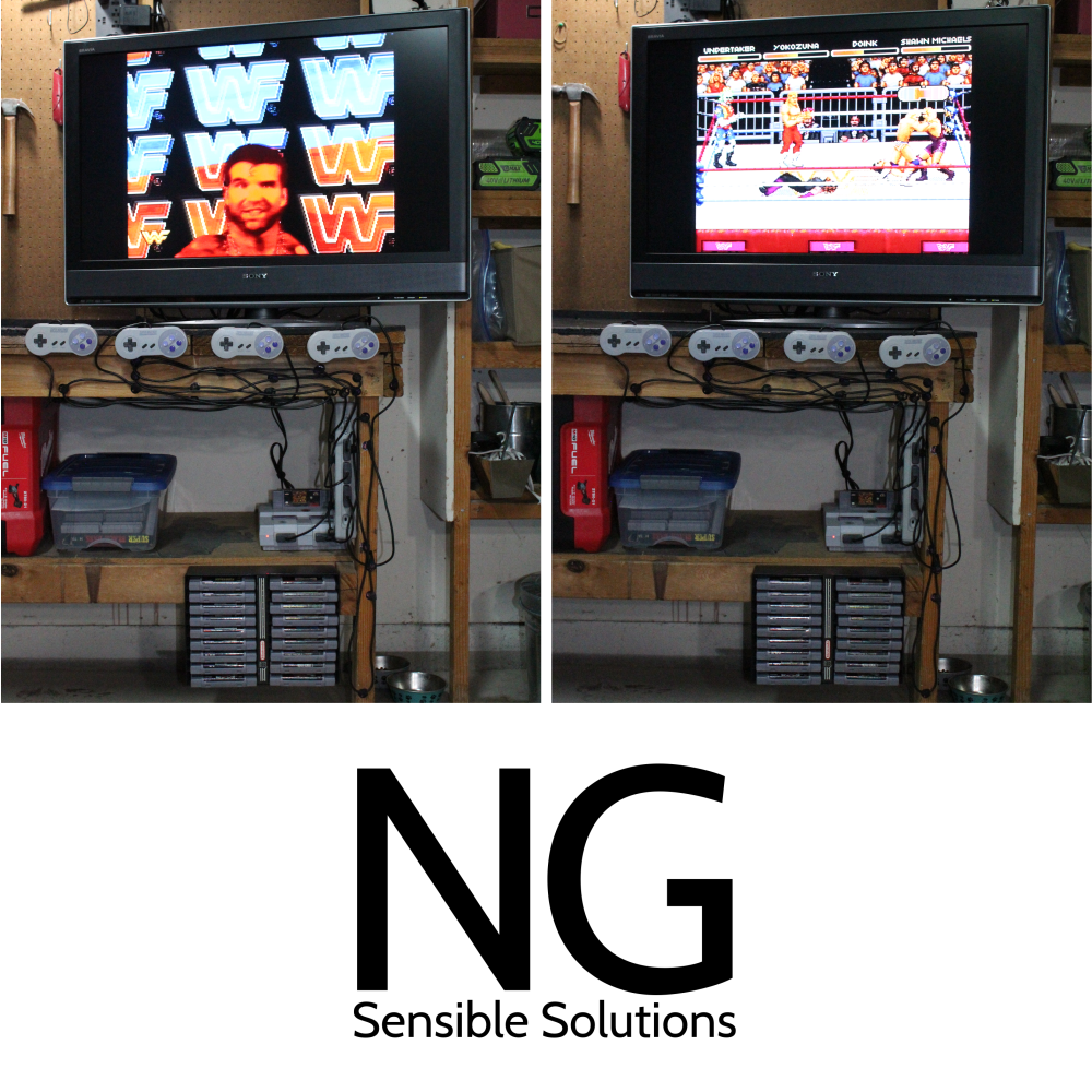 ng-sensible-solutions-game-controller-system-mounting-snes-controllers-to-work-bench-battlestation-cables-organized-and-mounted