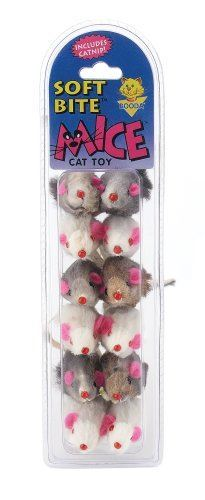 Petmate Soft Bite Cat Toy, Small, 12-Pack, Fur Mice exxab.com