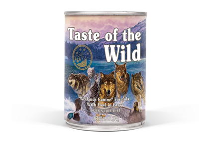 Taste of the wild® Wetlands Canine Formula 374g (12/pack) - exxab.com